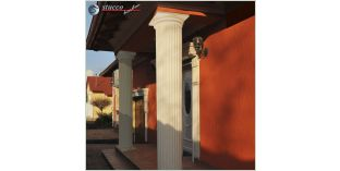 125. Fassaden Idee: Säulenverkleidung zur Fassadenverzierung