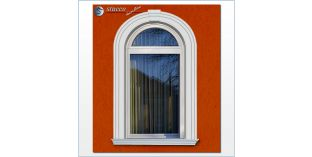 108. Fassaden Idee: flexible Stuckleisten zur Fensterumrandung / Türumrandung mit Fassadenstuck