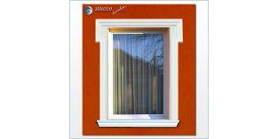 21. Fassaden Idee zur Fensterumrandung / Türumrandung mit Fassadenstuck