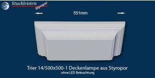 Trier 14/500x500-1 Deckenlampe ohne LED Beleuchtung