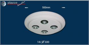 LED Deckenbeleuchtung Trier 14/500x500-3 Design Lampen mit Stuck und LED Spot