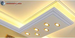 Stuckleiste für kombinierte Beleuchtung Essen 270+2x202