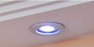 Einbaurahmen für LED Deckenleuchte weiß