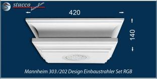 Mannheim 303/202 Einbaustrahler Set - mehrfarbig RGB