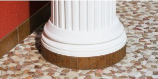 Säulenbasis-Hälfte mit Beschichtung OFKK 260/424