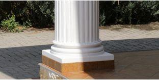 Säulensockel-Hälfte mit Beschichtung OFK-2K 230/350