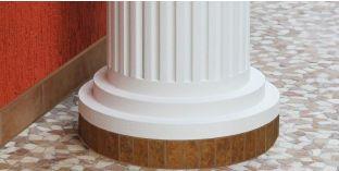 Säulenfuß-Hälfte mit Beschichtung OFMK 140/340