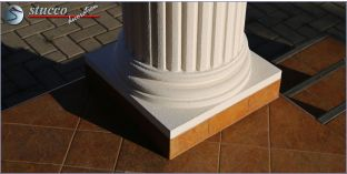 Säulensockel-Hälfte mit Beschichtung OFK-2K 130/250