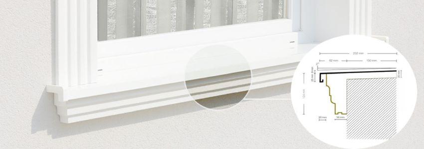 Außenfensterbänke aus Styropor?