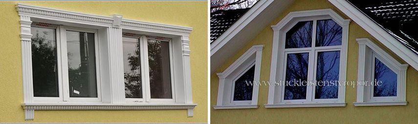 Fassadenprofile und Zierleisten für besondere Fenster