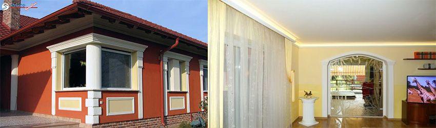 Der Alleskönner unter den Fassadenprofilen – Freetown 100 das Rahmenprofil, das Gesims und der Pilaster in einem