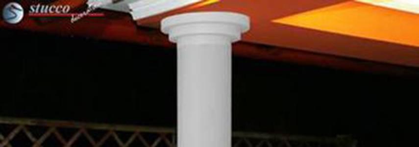 Glatter Säulenschaft mit stoßfester Beschichtung