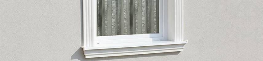 Ideen zur Fassadengestaltung Schritt für Schritt: 3. Komplette Aluminium Fensterbank mit Styroporkern
