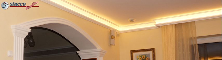 Indirekte Beleuchtung mit Stuckleisten Styropor