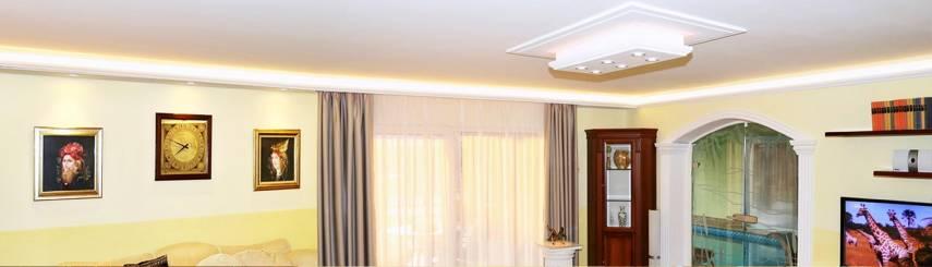 Indirekte Beleuchtung mit Stuckleisten aus Styropor