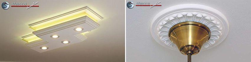 Klassische Deckenbeleuchtung oder Stucklampen – das ist hier die Frage