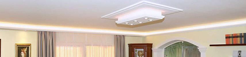 Lampenkörper aus Styropor für individuelle LED Beleuchtung –  einzigartige Möglichkeiten für Deckenbeleuchtung mit LEDs