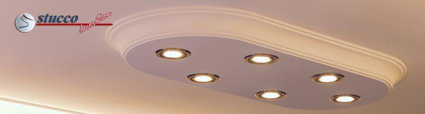 LED Deckenleuchten mit Styroporstuck