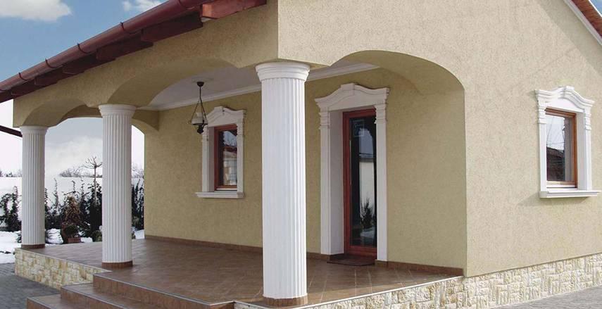 Ideen zur Fassadengestaltung Schritt für Schritt: 5. Säulen zur Fassadenverzierung