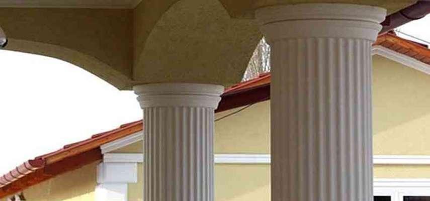 Säulenverkleidung: Stoßfest beschichtetes Kapitell