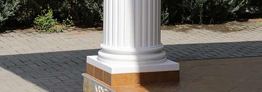 Stoßfeste Säulenverkleidung: Säulenfuß