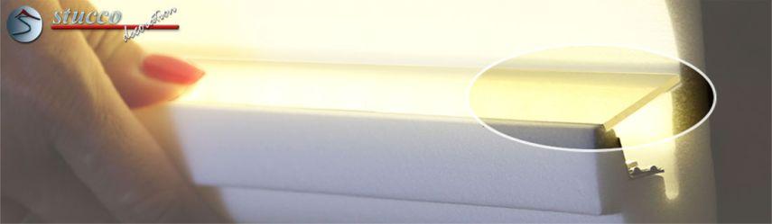 Stuckleisten für indirekte Beleuchtung PLEXI PLUS