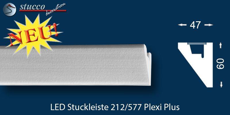 led stuckleiste f r indirekte beleuchtung fulda 212 plexi plus. Black Bedroom Furniture Sets. Home Design Ideas