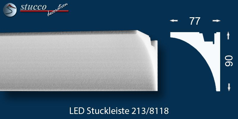 led stuckleiste f r indirekte beleuchtung s lden 213. Black Bedroom Furniture Sets. Home Design Ideas
