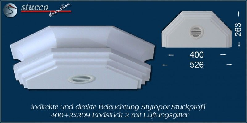 Lichtleiste für direkte und indirekte Beleuchtung Dortmund 400+2x209