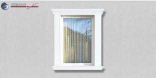 24. Fassaden Idee: Hausfassade mit Fensterverzierung / Türverzierung