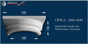 Kapitell für Säule aus Hartschaum Styropor OFK-2 280/400
