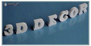 3D Logos und Deko Buchstaben aus Styropor (Polystyrol) - Höhe: 15 cm; Dicke: 2 cm