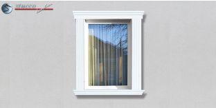 50. Fassaden Idee: Stuckleisten als Fensterverzierung / Türverzierung