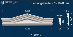 Fassadenelemente Dreieckbekrönung Frankfurt 108/117 970-1020