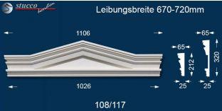 Fassadenstuck Dreieckbekrönung Frankfurt 108/117 670-720