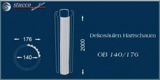 Dekosäulen Hartschaum OB 140/176
