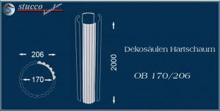 Dekosäulen-Viertel Hartschaum OB 170/206
