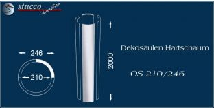 Dekosäulen Hartschaum OS 210/246