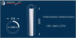 Dekosäulen Hartschaum OS 340/376