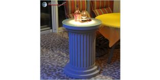 Dekosäule Hartschaum ODMK 560/758 mit Quarzsandbeschichtung und Beleuchtung