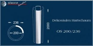 Dekosäulen Hartschaum OS 200/236