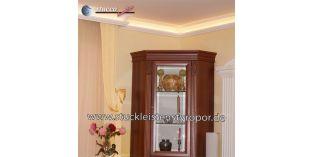 1. Wohnidee: Stuckleisten für indirekte Beleuchtung