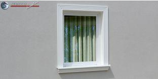 4. Fassaden Idee mit Außenstuck zur Fensterumrandung und Türumrandung