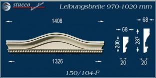 Fassadenelement Bogengiebel Gadebusch 150/104F 970-1020