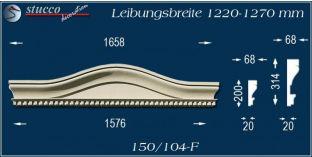 Fassadenelement Bogengiebel Dortmund 150/104F 1220-1270