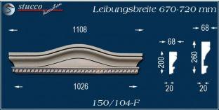 Stuck Fassade Bogengiebel Erding 150/104F 670-720