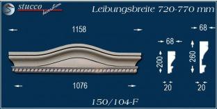 Stuck Fassade Bogengiebel Marburg 150/104F 720-770