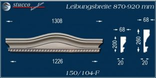 Fassadenelement Bogengiebel Flensburg 150/104F 870-920
