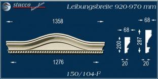 Fassadenelement Bogengiebel Böblingen 150/104F 920-970