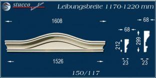 Fassadenelement Bogengiebel Hürth 150/117 1170-1220